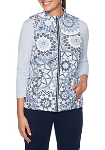 Petite Must Haves Medallion Reversible Vest
