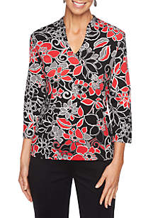 Must Haves II Petite Floral Knit Top