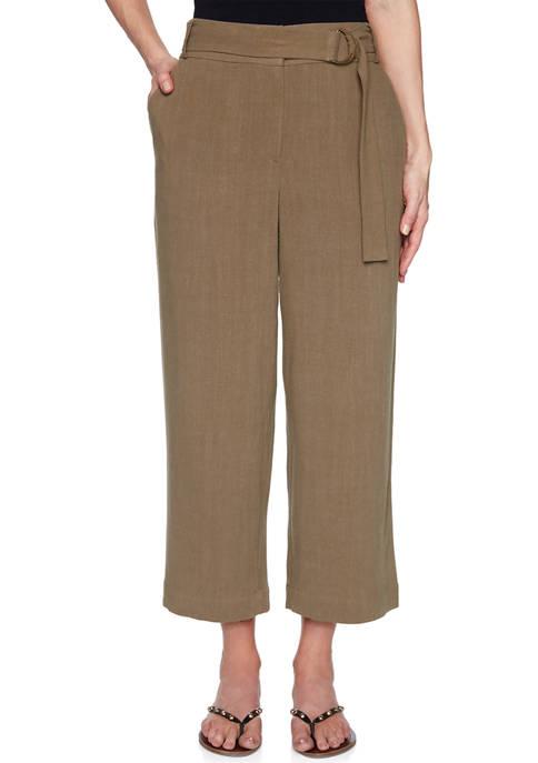 Ruby Rd Petite Gypsy Spirit Linen Slub Pants