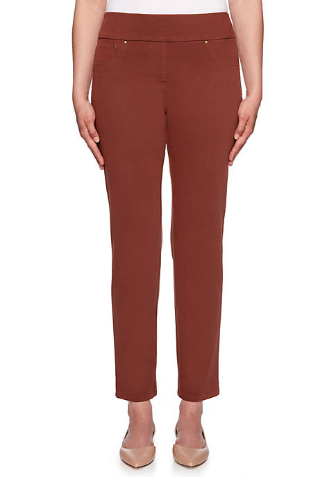 Ruby Rd Petite Go West Knitted Twill Pants