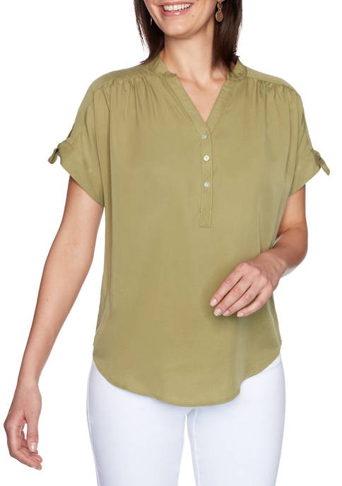 Ruby Rd Petite Must Haves I Relaxed Henley