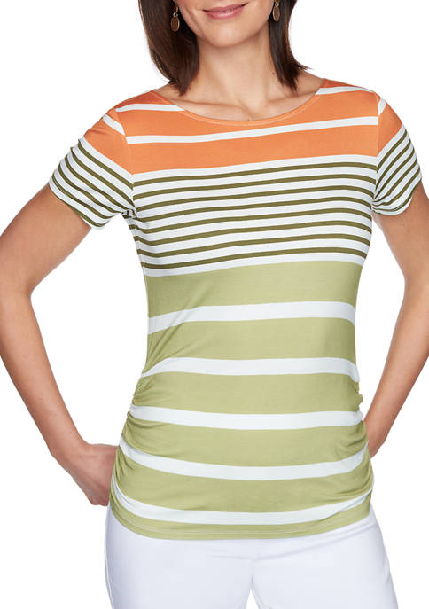 Ruby Rd Petite Must Haves I Stripe Rayon