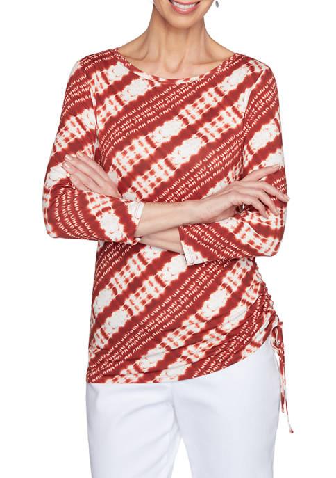 Ruby Rd Petite Must Haves 3/4 Sleeve Tie