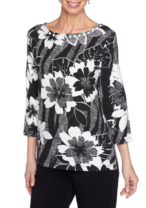 Petite Must Haves Floral Mosaic Top