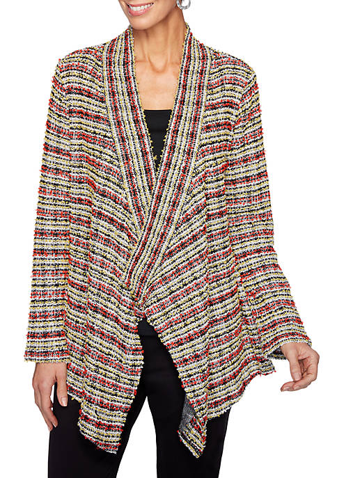 Womens Globetrotter Striped Cardigan