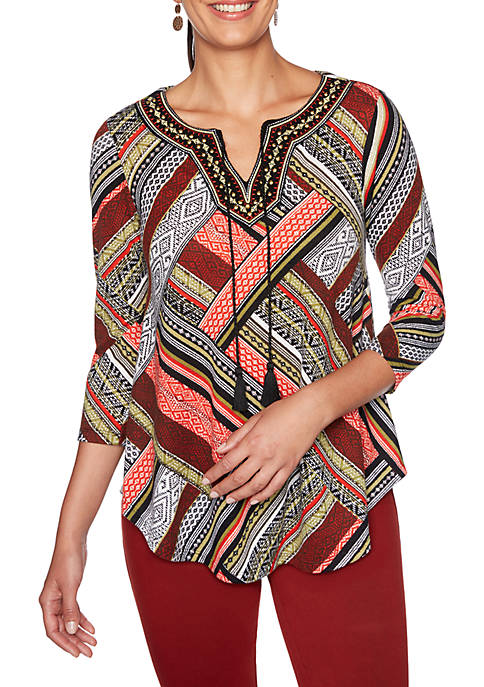 Womens Globetrotter Hacci Knit Top