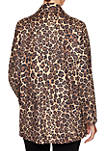 Womens Wild Mix Cheetah Print Blazer