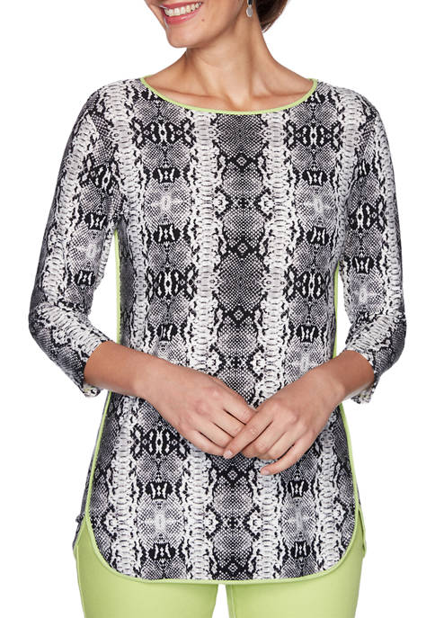 Ruby Rd Womens In The Limelight Python Print