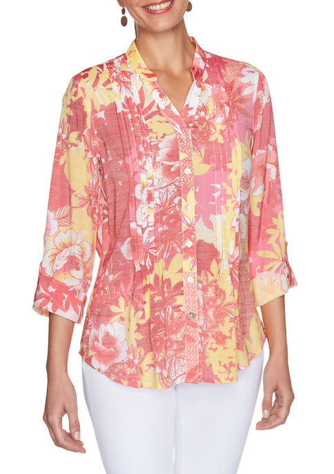 Ruby Rd Petite Must Haves I Pleated Floral