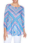 Womens Sublime Sublimation 2020 Floral Reflections Top