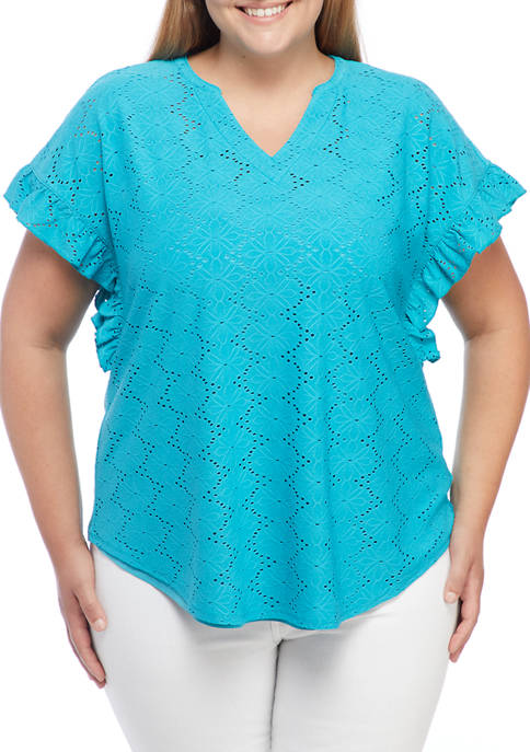 Ruby Rd Plus Size Deep Tropic Lined Floral