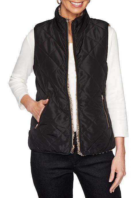 Reversible Nylon Sherpa Vest- Soft & Cozy Collection