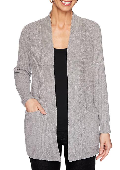 Womens Knit Picks Long Sleeve Chenille Cardigan