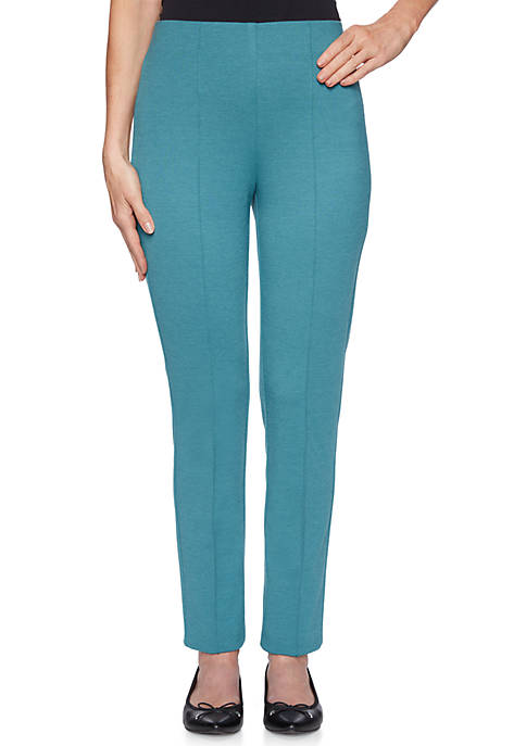 Womens Pull On Ponte Pants