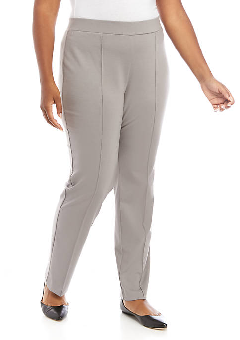 Plus Size Stretch Ponte Pants
