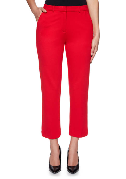 Plus Size Paint the Town Red Ponte Pants