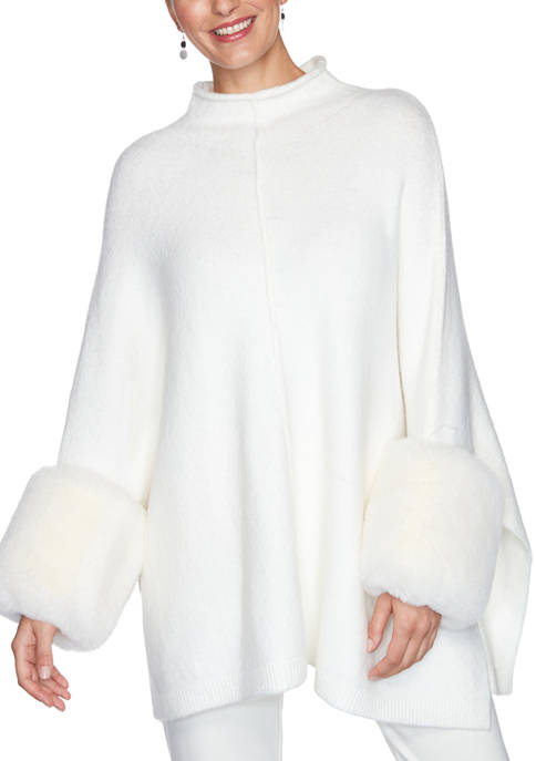 Ruby Rd Womens Act Natural Mock Neck Cozy