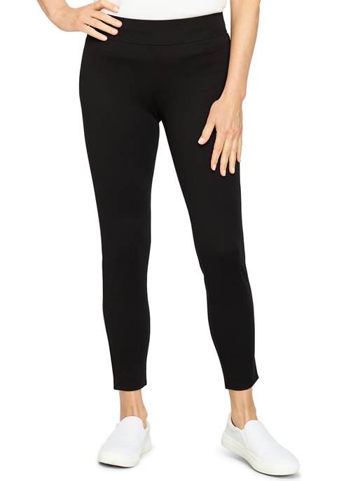 Ruby Rd Womens Sleek Pull-On Ponte Leggings