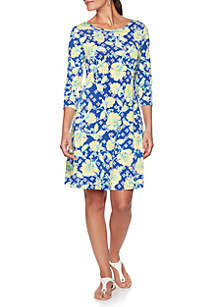 678ffc4d2c3cc ... Ruby Rd Must Have Floral Vine Puff Dress