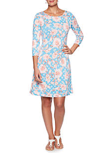 a6ba14756b02 ... Ruby Rd Must Have Floral Vine Puff Dress
