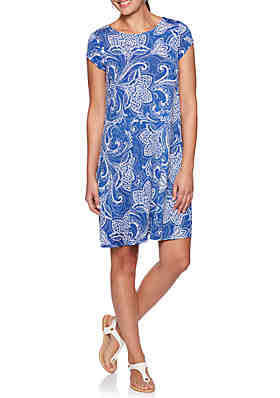 83a09237f51f4 Ruby Rd Must Have Shibori Floral Puff Dress ...