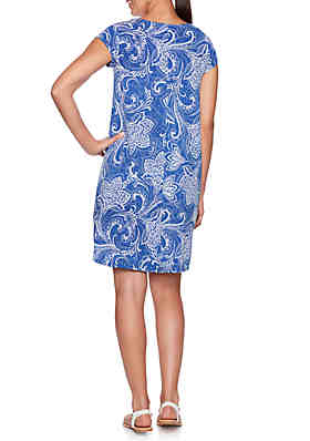 4c1a9cc483ee4 ... Ruby Rd Must Have Shibori Floral Puff Dress