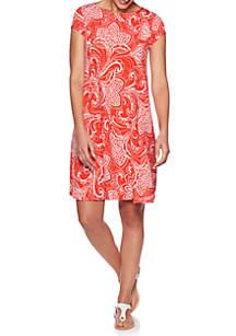 92301c0040fa ... Ruby Rd Petite Must Have Shibori Floral Puff Dress