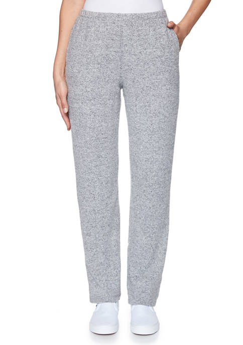 Womens Cozy Up Pull On Heather Knit Pants
