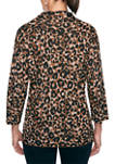 Womens Must Haves Shadow Leopard Cowl Neck Sweater