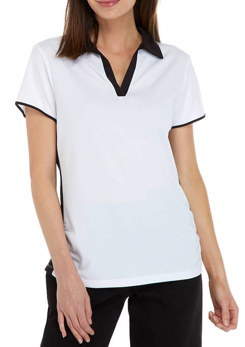Ruby Rd Womens Breathable Color Blocking Ruched UPF