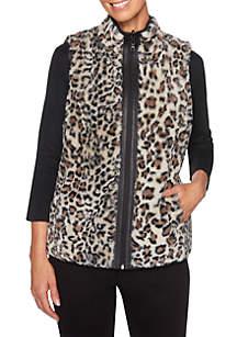 Must Haves Faux Leopard Vest