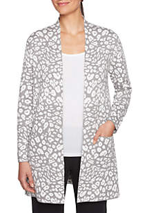 Open Front Spot Cardigan