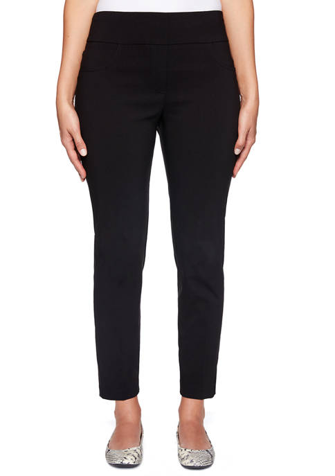 Womens Key Items Pull On Tech Ankle Pants