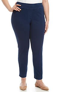 Plus Size Twill Pants