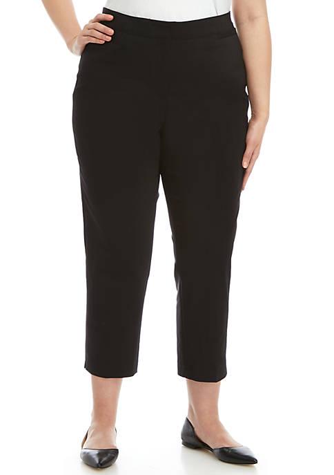 Plus Size Double Face Stretch Pants