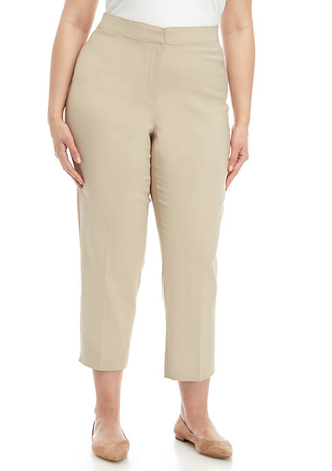 Ruby Rd Plus Size Double Face Stretch Pants