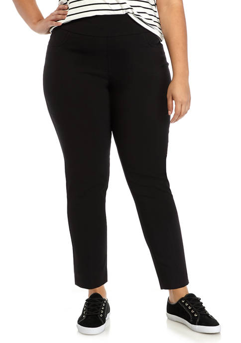 Plus Size Key Items Millennium Tech Ankle Pants