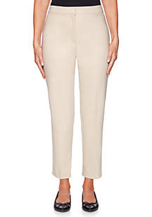 Petite Double Face Stretch Pants
