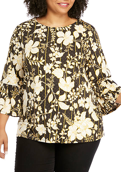 Ruby Rd Plus Size Must Haves Printed Bell