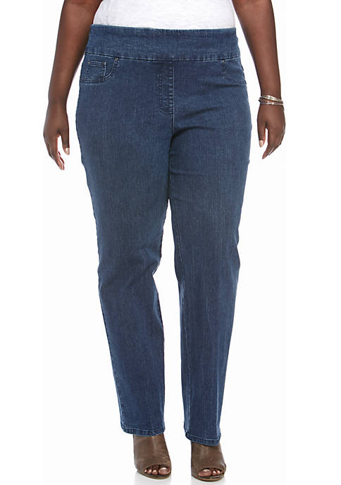 Ruby Rd Plus Size Pullover Stretch Average Denim