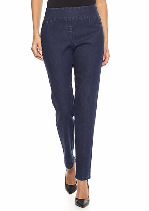 Ruby Rd Petite Pull On Jean Pants Belk