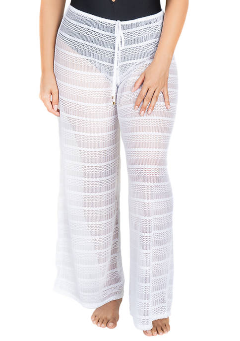 Plus Size Pull On Beach Cover Up Pants