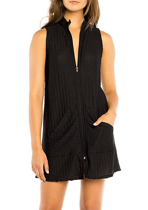 Jordan Taylor Sleeveless Zip Front Cover Up Dress