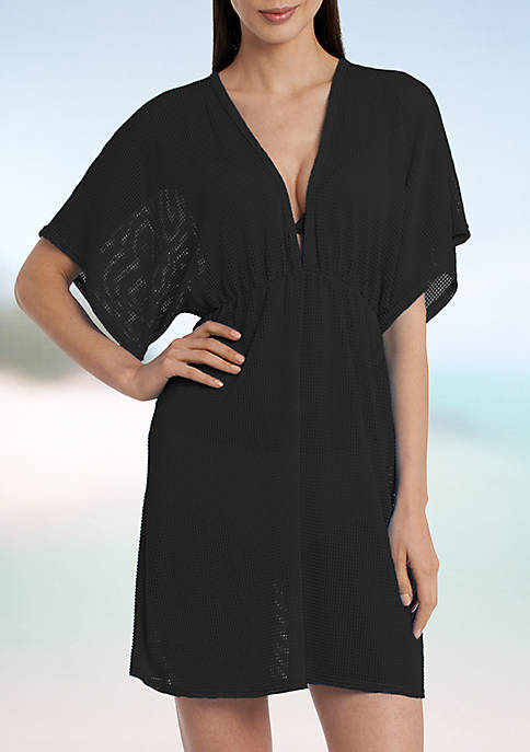 Jordan Taylor Elastic Empire Waist Tunic Swim Cover