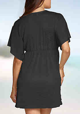 308f876dc4bf1 Jordan Taylor Elastic Empire Waist Tunic Swim Cover Up. SOURBH Women s Beach  Wear Wrap ...