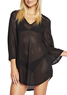 Bell Sleeve Short Tail Tunic Swim Cover-Up