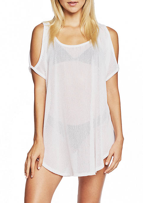Jordan Taylor Cold Shoulder Swim Cover Up Tunic