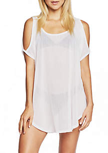 Cold Shoulder Swim Cover Up Tunic