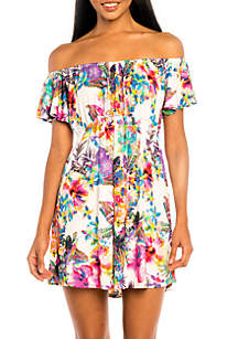 Off Shoulder Cover Up Dress