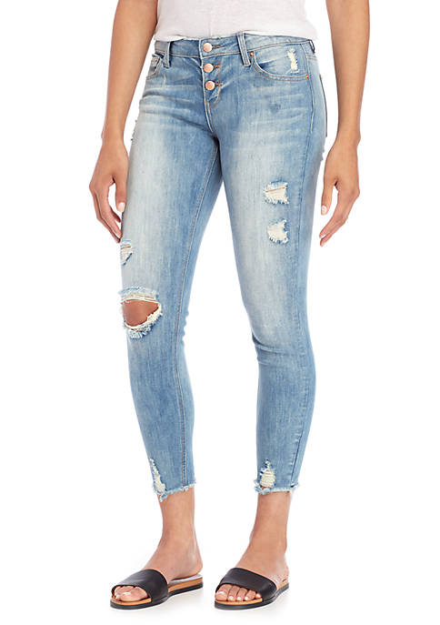 hippie laundry Exposed Button Destroyed Skinny Jean